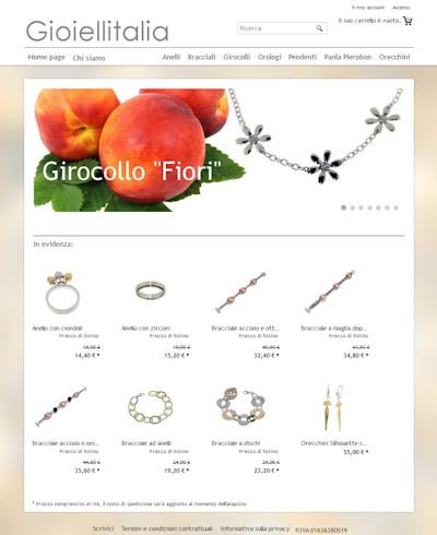 Sito di e-commerce Gioielli Italia