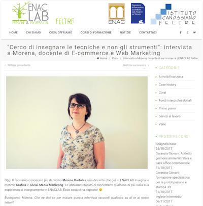 Intervista sulle mie docenze per Enac Feltre