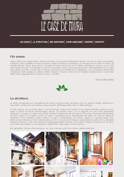 Le Case de Mura - Il sito