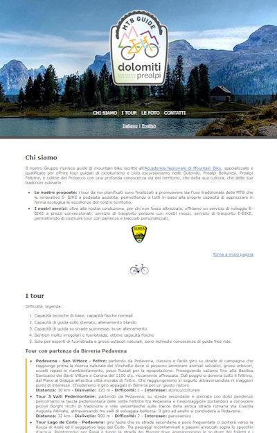 Guide MTB Dolomiti Prealpi - Il sito