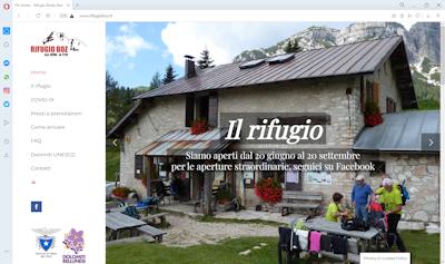 Sito web del Rifugio Bruno Boz